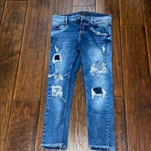 Zara Men's Distressed Jeans